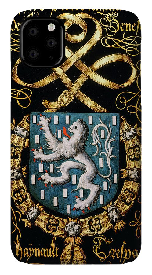 Order Of The Golden Fleece IPhone Case featuring the painting Armorial Plates From The Order Of The Golden Fleece - 19 by Lukas de Heere