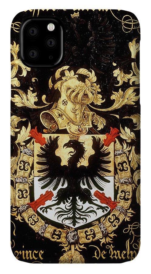 Order Of The Golden Fleece IPhone Case featuring the painting Armorial Plates From The Order Of The Golden Fleece - 31 by Lukas de Heere