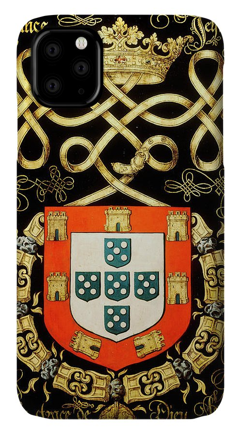 Order Of The Golden Fleece IPhone Case featuring the painting Armorial Plates From The Order Of The Golden Fleece - 32 by Lukas de Heere