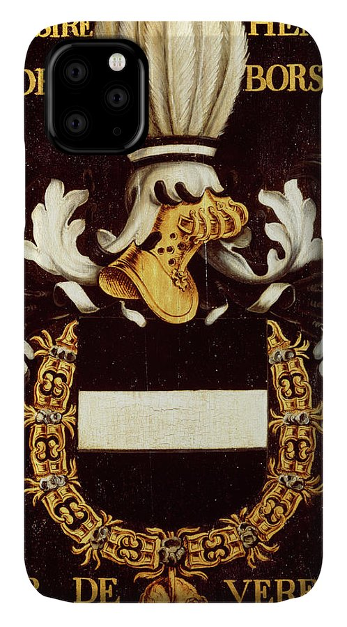 Order Of The Golden Fleece IPhone Case featuring the painting Armorial Plates From The Order Of The Golden Fleece - 36 by Lukas de Heere