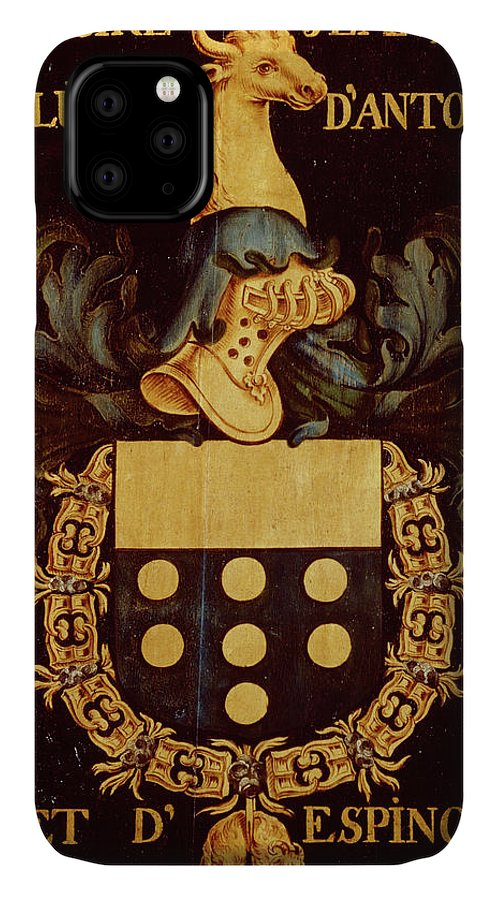 Order Of The Golden Fleece IPhone Case featuring the painting Armorial Plates From The Order Of The Golden Fleece - 42 by Lukas de Heere