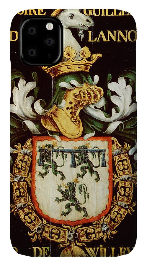 Order Of The Golden Fleece IPhone Case featuring the painting Armorial Plates From The Order Of The Golden Fleece - 48 by Lukas de Heere