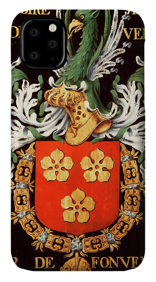 Order Of The Golden Fleece IPhone Case featuring the painting Armorial Plates From The Order Of The Golden Fleece - 60 by Lukas de Heere