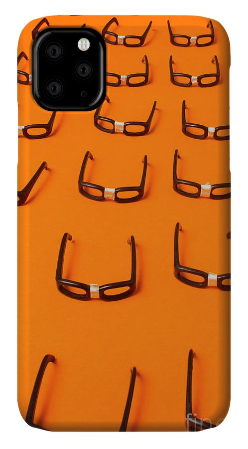 Nerd IPhone Case featuring the photograph Army Of Nerd Glasses by Jorgo Photography - Wall Art Gallery