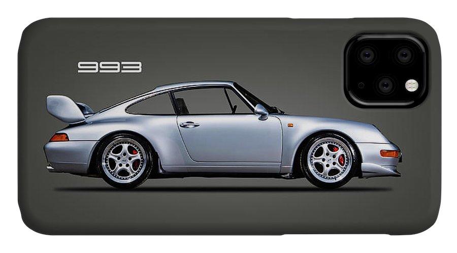 Porsche 993 IPhone 11 Case featuring the photograph Porsche 993 by Mark Rogan