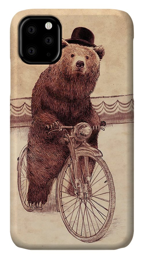 Bear IPhone 11 Case featuring the drawing Barnabus by Eric Fan