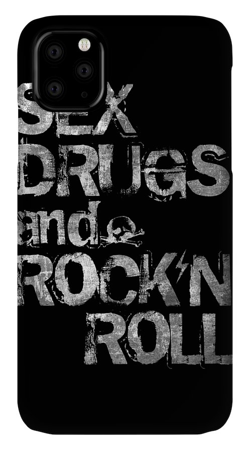 Sex IPhone Case featuring the digital art Sex Drugs And Rock N Roll by Zapista OU