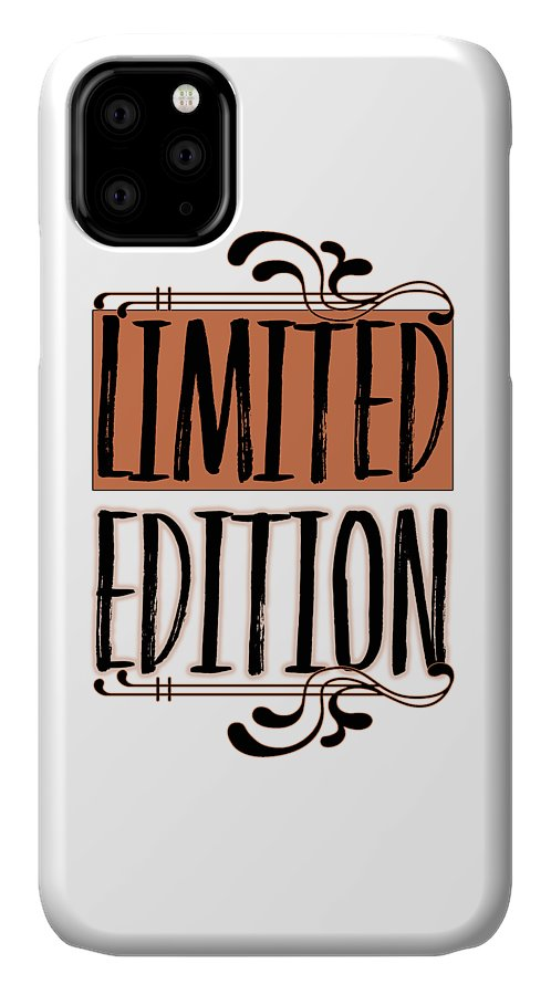 Abstract IPhone Case featuring the digital art Limited Edition by Melanie Viola