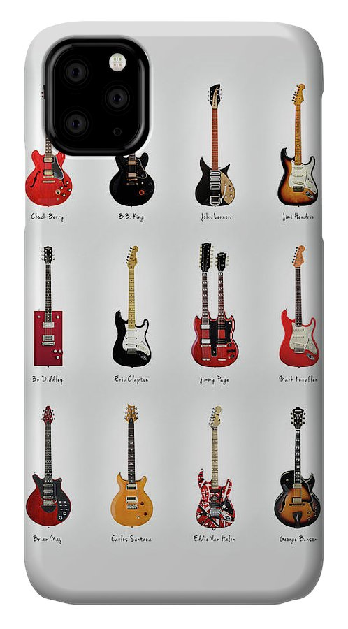 Fender Stratocaster IPhone Case featuring the photograph Guitar Icons No1 by Mark Rogan