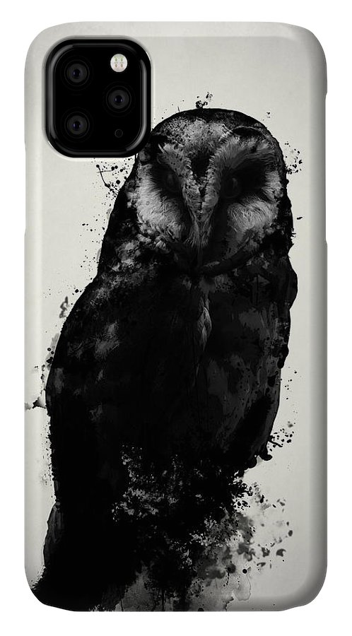 Owl IPhone 11 Case featuring the mixed media The Owl by Nicklas Gustafsson
