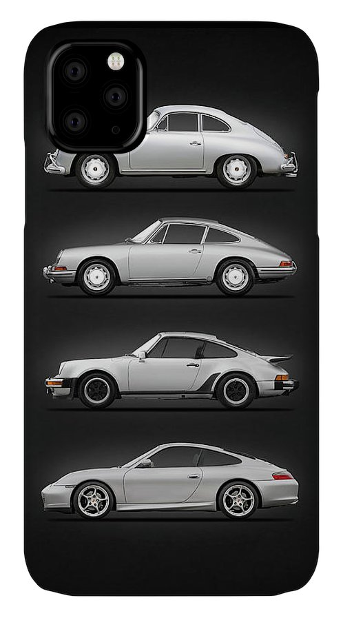 Porsche IPhone 11 Case featuring the photograph Evolution Of The 911 by Mark Rogan