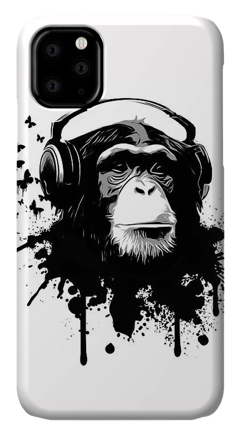 Ape IPhone Case featuring the digital art Monkey Business by Nicklas Gustafsson