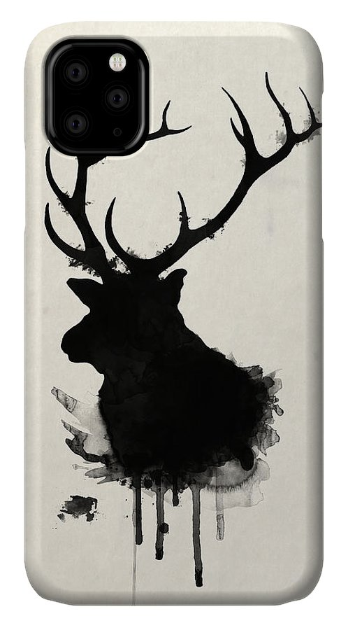 Elk IPhone Case featuring the drawing Elk by Nicklas Gustafsson