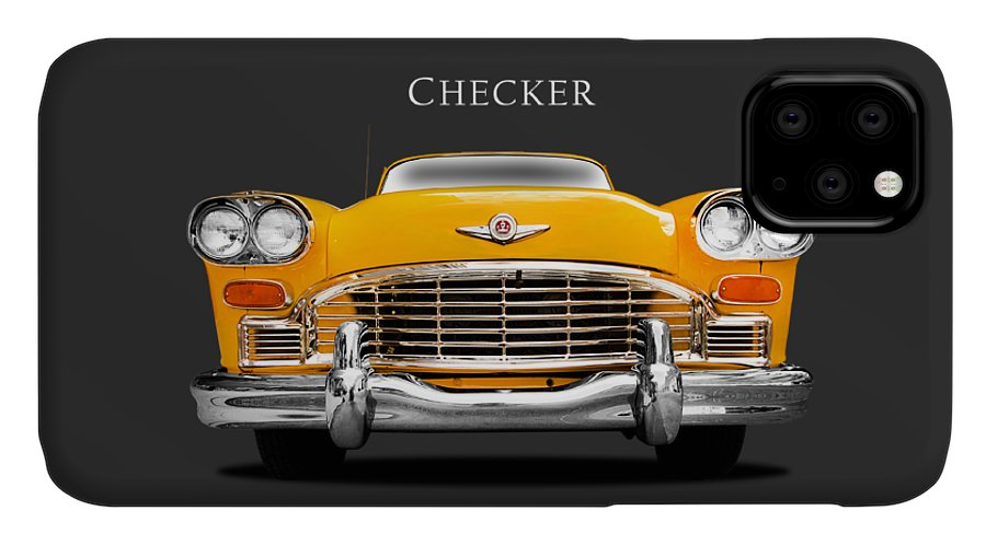 Checker Cab IPhone Case featuring the photograph Checker Cab by Mark Rogan