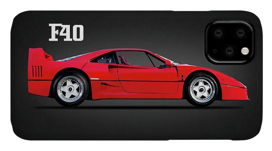 Ferrari F40 IPhone Case featuring the photograph Ferrari F40 by Mark Rogan
