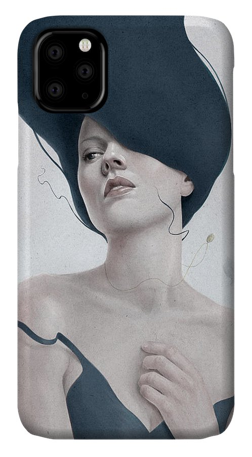Woman IPhone 11 Case featuring the digital art Ascension by Diego Fernandez