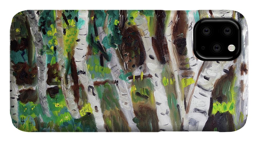Aspen IPhone Case featuring the painting Aspen Grove by Day Williams