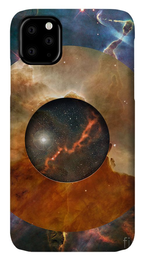 astral Abstraction IPhone Case featuring the digital art Astral Abstraction I by Kenneth Rougeau