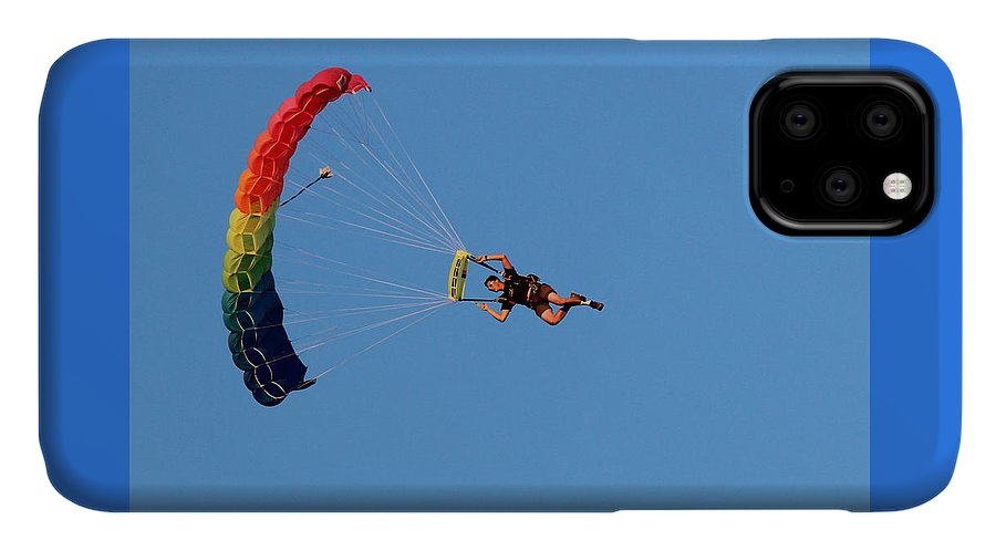 Parachute IPhone 11 Case featuring the photograph At The Mercy Of The Wind by Lorraine Baum