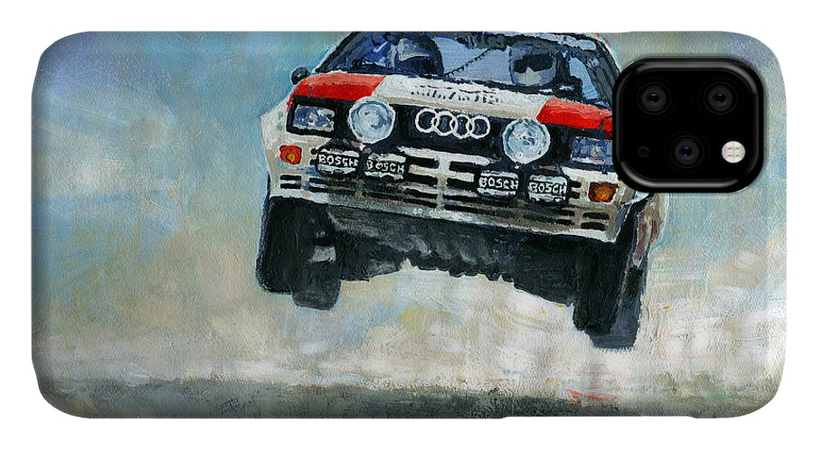 Acrilic IPhone Case featuring the painting Audi Quattro Gr.4 1982 by Yuriy Shevchuk