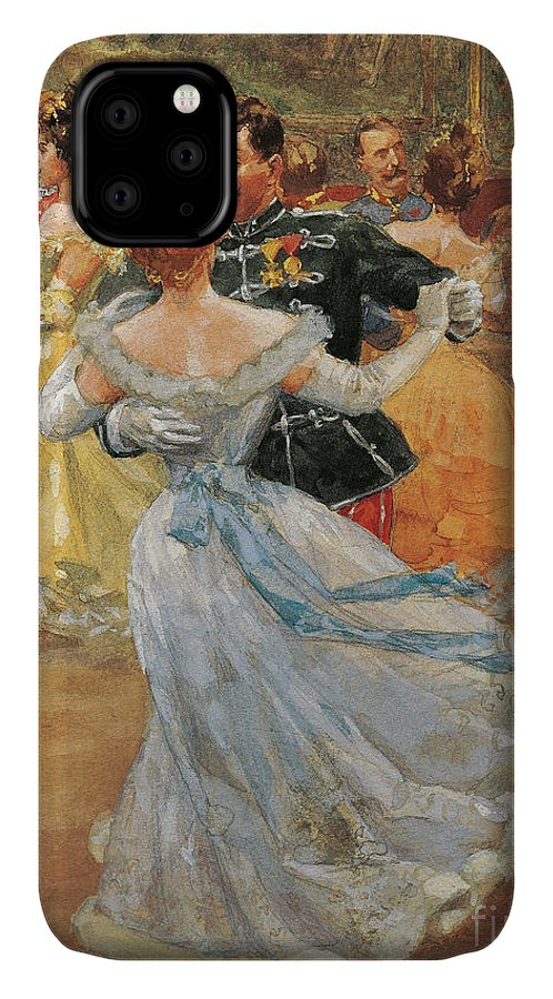 Waltz IPhone Case featuring the painting Austria, Vienna, Emperor Franz Joseph I Of Austria At The Annual Viennese Ball by Wilhelm Gause