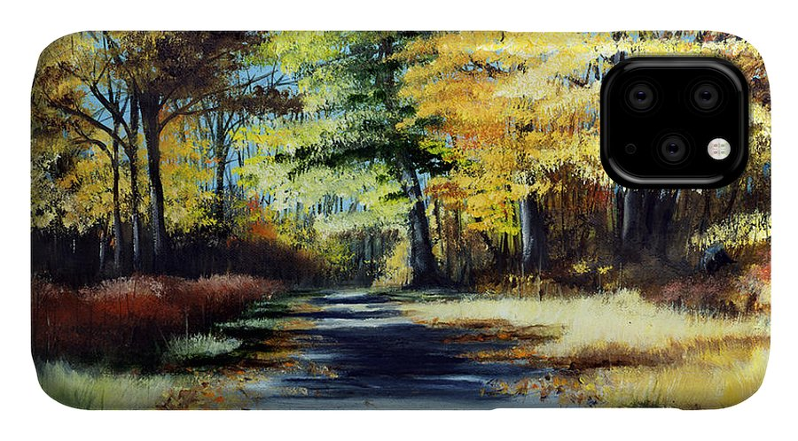 Landscape IPhone Case featuring the painting Autumn Colors by Paul Walsh