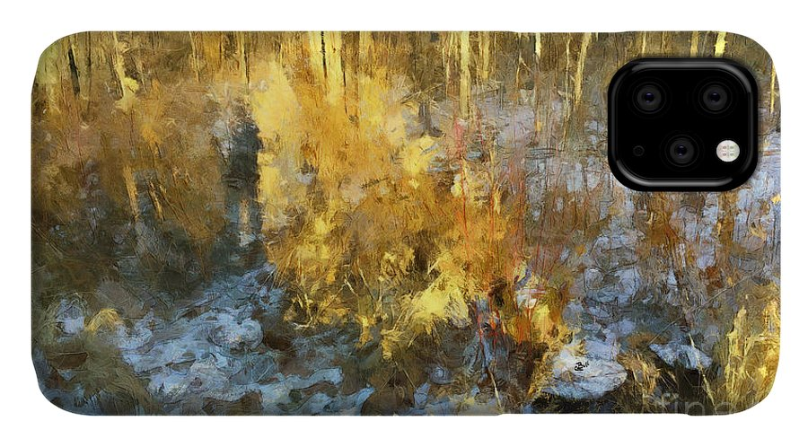Woods IPhone 11 Case featuring the photograph Autumn Gold by Claire Bull