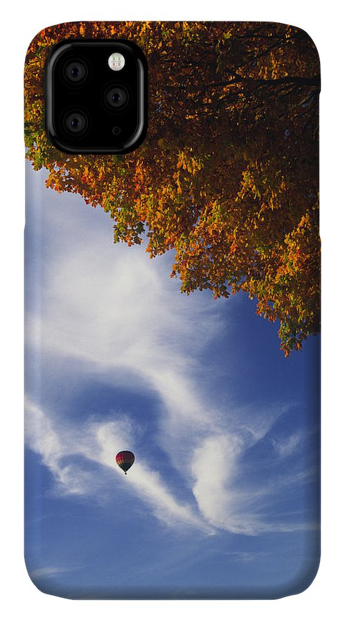 Hot IPhone Case featuring the photograph Autumn Traveler - Lake Geneva Wisconsin by Bruce Thompson