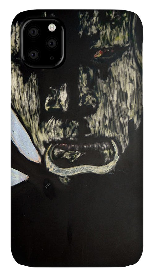 IPhone Case featuring the mixed media Avenging Angel by Chester Elmore
