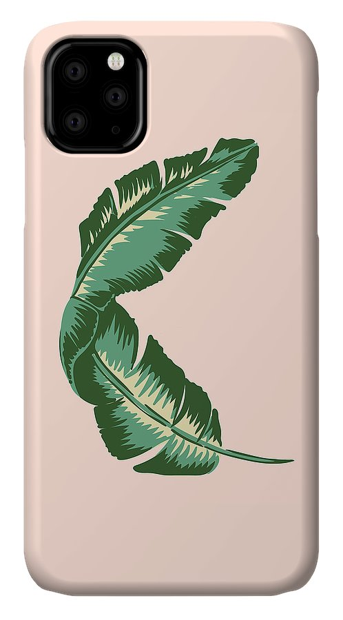 Leaf IPhone Case featuring the digital art Banana Leaf Square Print by Lauren Amelia Hughes
