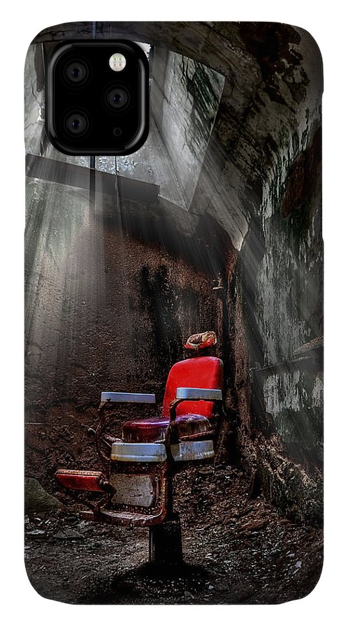 Abandoned IPhone 11 Case featuring the photograph Barber Shop by Evelina Kremsdorf