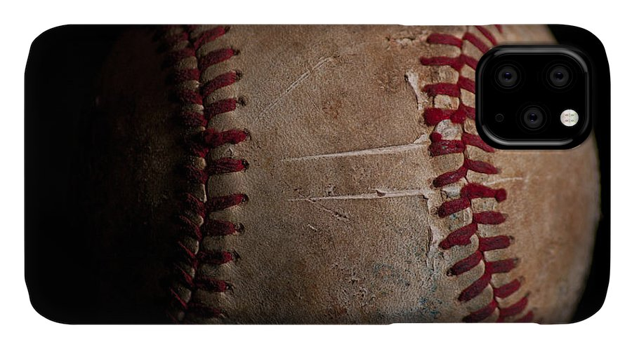 Sports IPhone Case featuring the photograph Baseball Closeup by Eugene Campbell