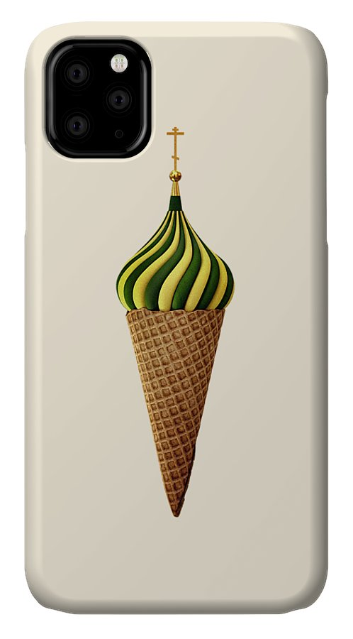 Juxtaposition IPhone Case featuring the digital art Basil Flavoured by Nicholas Ely