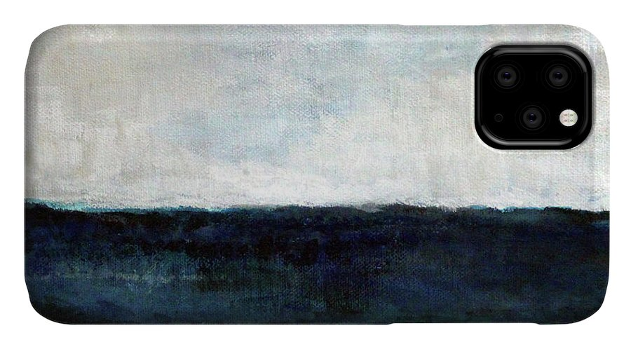 Beach IPhone Case featuring the painting Beach- Abstract Painting by Linda Woods