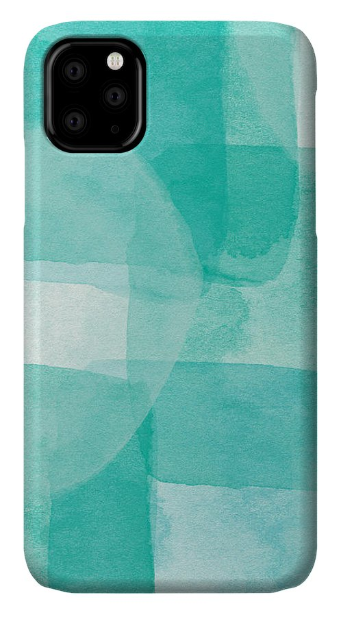 Abstract IPhone Case featuring the painting Beach Glass- Abstract Art By Linda Woods by Linda Woods