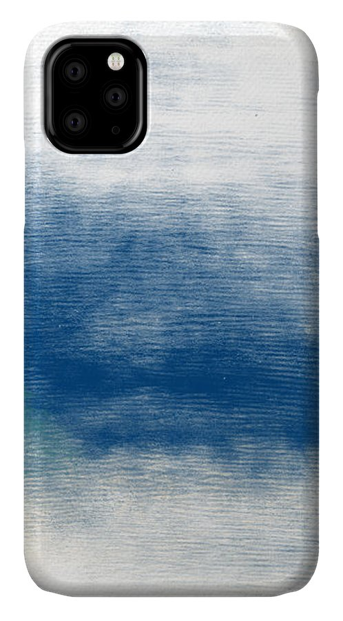 Beach IPhone 11 Case featuring the mixed media Beach Mood Landscape- Art By Linda Woods by Linda Woods
