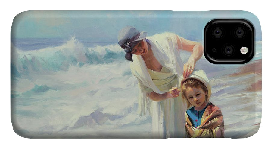 Beach IPhone Case featuring the painting Beachside Diversions by Steve Henderson