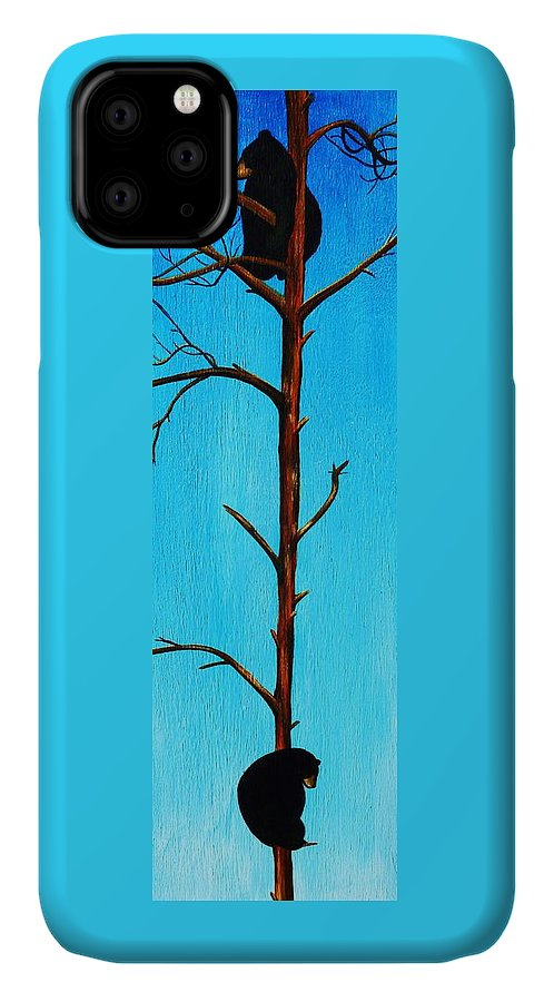 Bear IPhone Case featuring the painting Bear Country by Lucy Deane