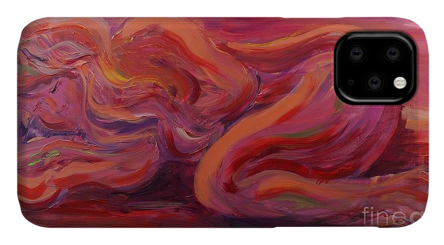 Nude IPhone Case featuring the painting Beauty by Nadine Rippelmeyer