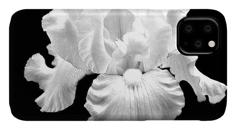 Photo IPhone Case featuring the photograph Beauty Queen In Black And White by Marsha Heiken