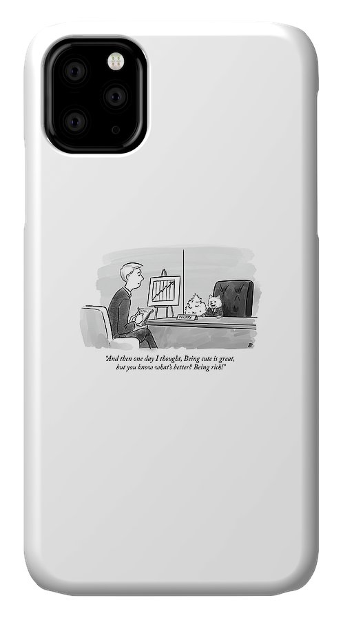 """and Then One Day IPhone Case featuring the drawing Being cute is great but by Pia Guerra"