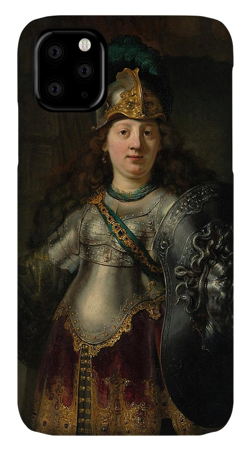 Bellona IPhone Case featuring the painting Bellona by Rembrandt Harmenszoon van Rijn