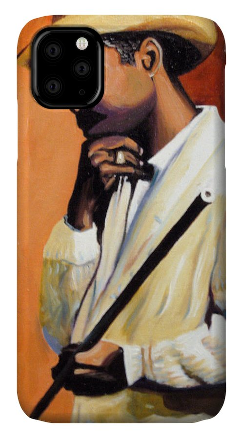 Cuban Art IPhone Case featuring the painting Benny 2 by Jose Manuel Abraham
