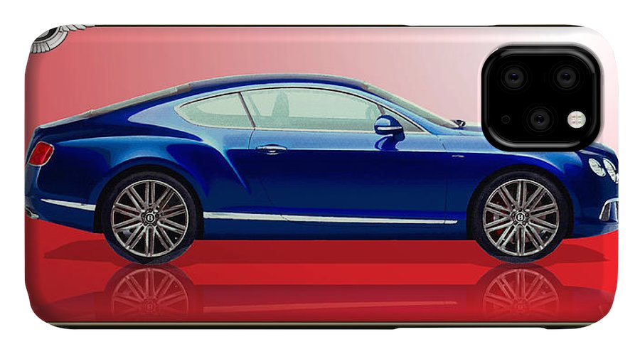 Wheels Of Fortune By Serge Averbukh IPhone Case featuring the photograph Bentley Continental Gt With 3d Badge by Serge Averbukh