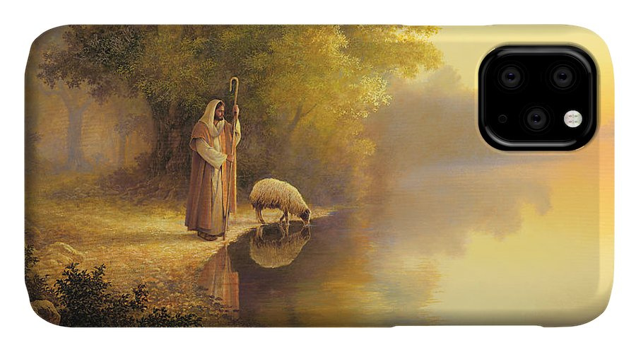 Jesus IPhone Case featuring the painting Beside Still Waters by Greg Olsen