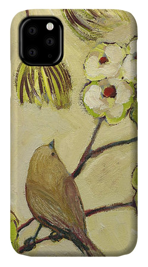 Bird IPhone Case featuring the painting Beyond The Dogwood Tree by Jennifer Lommers