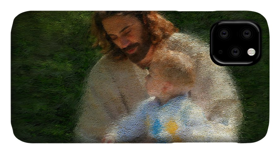 Jesus IPhone 11 Case featuring the painting Bible Stories by Greg Olsen