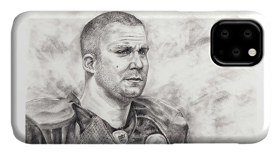 Ben Roethlisberger IPhone Case featuring the drawing Big Ben by Emma Olsen