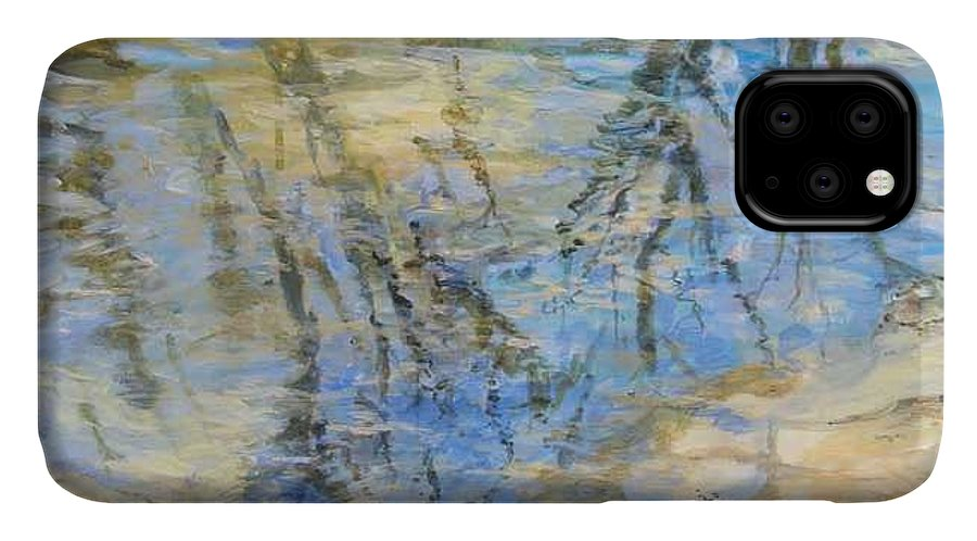 Water IPhone Case featuring the painting Big Creek by Denise Ivey Telep