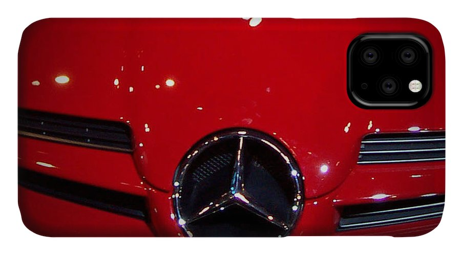 Picture IPhone Case featuring the photograph Big Red Smile - Mercedes-benz S L R Mclaren by Serge Averbukh